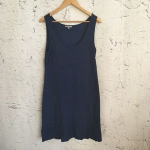 HORNY TOAD BLUE TEXTURAL DRESS L
